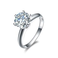 DODOBEL WOMEN 18K金白色经典永恒天然钻石钻戒46分