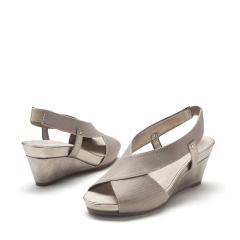 爱柔仕(AEROSOLES)时尚简约交叉带坡跟女鞋1915303T05