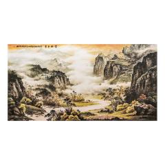 钟山石国画《金秋红云》
