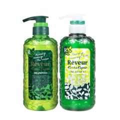reveur日本进口无硅油洗发水温和控油去屑保湿滋润洗发护发套装(绿瓶)