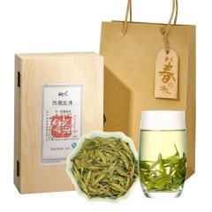 瓯叶早春之礼 2017年特级明前西湖龙井春茶 绿茶 100g 礼盒装