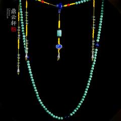 鼎云轩珠宝 翡翠豆种108颗朝珠 翡翠挂链吊坠