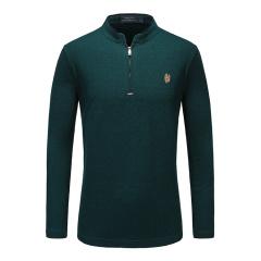 皇家棕榈马球俱乐部纯色立领长袖POLO衫13751501