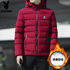 [偏胖的建议拍大一码]花花公子冬季棉衣男工装棉服韩版短款加厚棉袄潮牌宽松外套