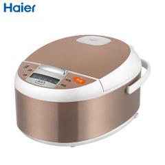 海尔(Haier)电饭煲金色 4升 液晶显示 金属不锈钢 立体式加热 智能预约 HRC-FD4018