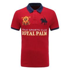 皇家棕榈马球俱乐部 男短袖商务休闲POLO衫翻领男士T恤13528104