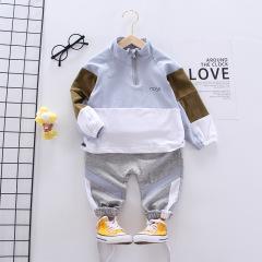 菲儿小屋 2020秋季新款男女宝宝外出单件外套笑脸英文连帽夹克衫