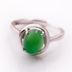 DODOBEL WOMAN时尚女士925银镶嵌玉髓戒指