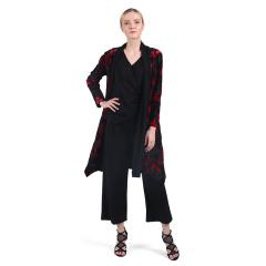 法国杜洛桑刺绣植绒风衣三件套