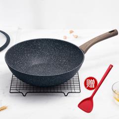 SIRONI斯罗尼意大利进口匠心系列不沾炒锅家用不粘锅电磁炉燃气灶通用炒锅
