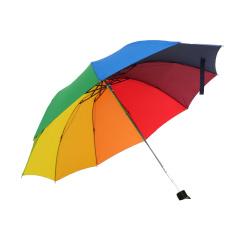 韩国小清新七彩虹雨伞