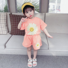 菲儿小屋0-4岁女宝2020夏季女装印花雏菊纯棉圆领短袖两件套