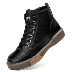 马丁靴女2020高帮鞋女新款舒适软底复古短靴加绒保暖网红靴子