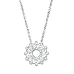 施华洛世奇Swarovski水晶花朵项链5048034 银色