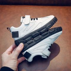 聚邦    女童板鞋2020年新款春秋韩版童鞋儿童休闲小白鞋男童时尚运动鞋潮