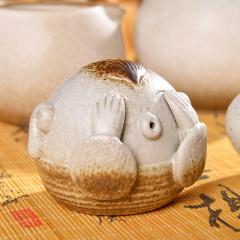 茶具配件 福娃茶宠 陶瓷茶艺自吐泡泡 茶宠摆件