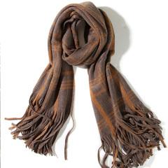 促销 英伦复古大格子大流苏羊毛围巾1707-原价219现199元