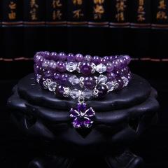 熙益 紫水晶气质手链女款精美饰品