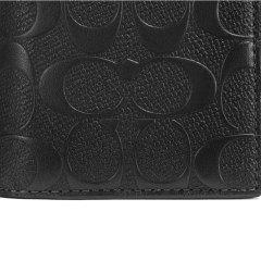 蔻驰(COACH)新款时尚男士皮质长款钱包卡包75365BLK