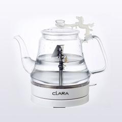 clara克拉拉高硼硅玻璃电热水壶自动断电304不锈钢养生壶