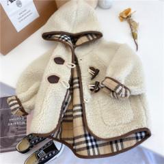 女童秋冬装韩版羊羔绒上衣儿童洋气中长款大衣女宝宝皮毛一体外套