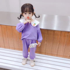 菲儿小屋秋季洋气韩版可爱两件套婴幼童长袖套装公主款女宝宝童装