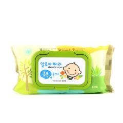 韩国原装进口木之惠Living芦荟婴儿湿巾80抽装