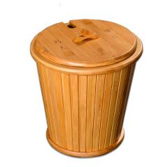 金镶玉 茶具配件 有容乃大茶桶 竹木实木内胆过滤茶渣桶水桶
