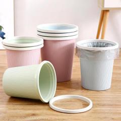 家用垃圾桶 分类厨房客厅卫生间办公室无盖简约垃圾筒大小号条纹压圈