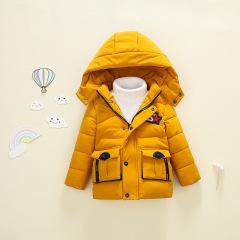 韩版新款现货1~3岁可爱连帽S星加厚保暖婴幼童棉衣2019年冬季外套