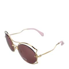 MiuMiu/缪缪女士黄铜色金属镜框紫色镜片太阳镜 50SS 7OE0A0 57