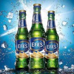 艾菲EFES 土耳其原装进口零度无醇啤酒 330ml *24瓶 整箱 军绿色