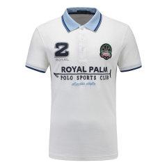 皇家棕榈马球俱乐部 男短袖商务休闲POLO衫翻领男士T恤13528101