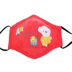 【三个装】儿童卡通印花棉布折叠口罩 (4-12岁)送2片含熔喷雾霾PM2.5过滤片