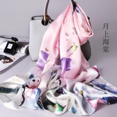 丝巾女百搭女丝绸中国风披肩送礼礼品夏季夏天薄款妈妈款真丝100%桑蚕丝围巾