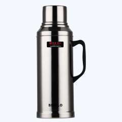 SIMELO印象京都玻璃内胆不锈钢外壳保温瓶真空热水壶 精钢壶 亮光2.0L