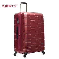 安特丽行李箱20寸双层防爆拉链可扩容凹凸镜面品质拉杆箱