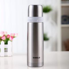 施美乐SIMELO 保温杯500ML 不锈钢经典杯 印象京都系列 本色