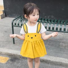 菲儿小屋批发2020夏季女童0-4岁宝宝清凉拼接连衣裙夏日出门**