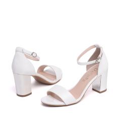 达芙妮几何图案一字带女凉鞋1016303123