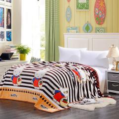 VIPLIFE毛毯 加厚法莱绒毯子沙发午睡毯护腿护肚子披肩毯青春活力款-青春世界