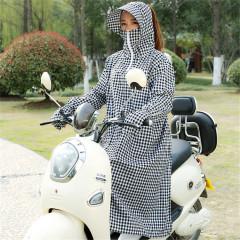 电动车防晒衣骑行女夏季披肩全身连帽摩托长款电瓶车防晒服帽