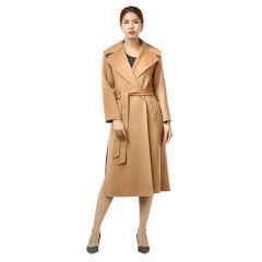 袯荟高端翻领100%羊毛大衣