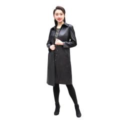 阿伦达时尚女士绵羊皮风衣