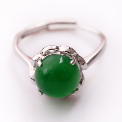 DODOBEL WOMAN时尚女性925银镶嵌玉髓戒指