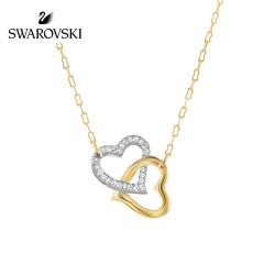 【香港直邮】施华洛世奇Swarovski双心扣项链人造水晶106270
