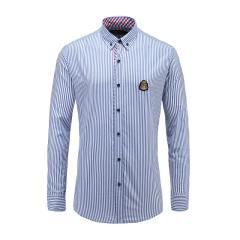 男士商务休闲长袖条纹翻领衬衫23635101