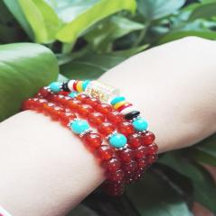 天然红玛瑙手链