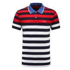 皇家棕榈马球俱乐部 男短袖条纹休闲POLO衫翻领男士T恤13528105