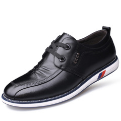 俊斯特 新款男单鞋圆头系带真皮男士皮鞋时尚休闲鞋